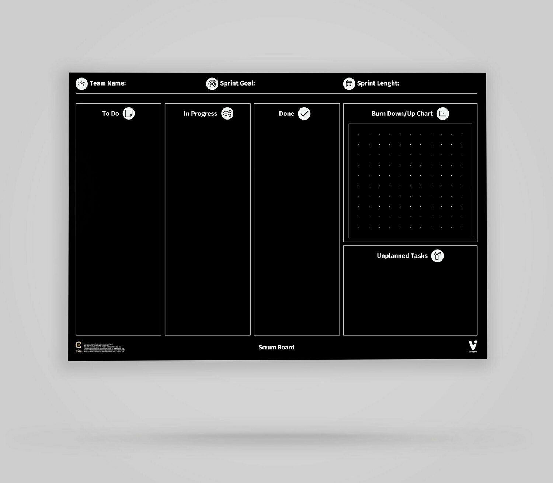 Vi-Board: Scrum Board - Blackboard Poster - DIN A0