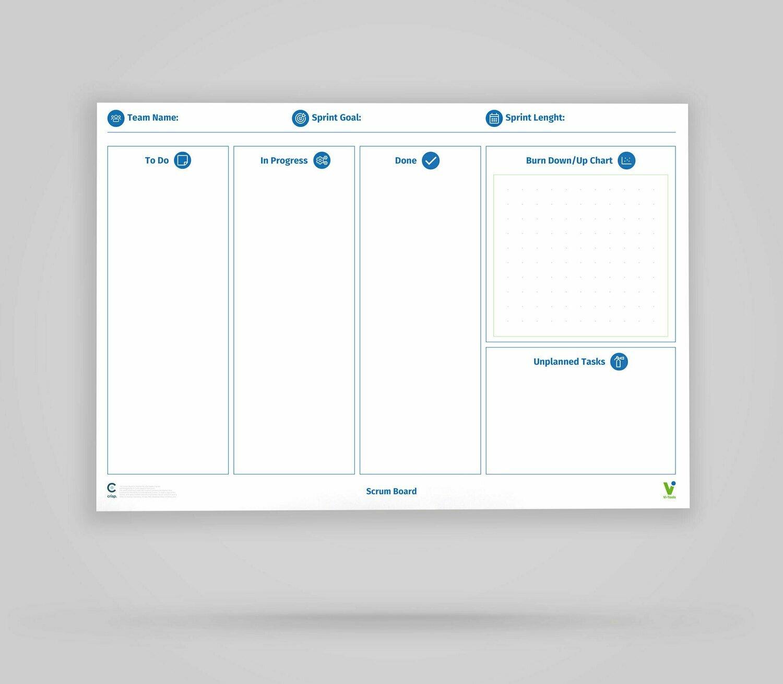 Vi-Board: Scrum Board - Whiteboard Poster - DIN A0