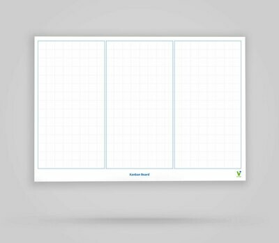 Vi-Board: Kanban Board 3 Spalten unbeschriftet - Whiteboard Poster - DIN A0