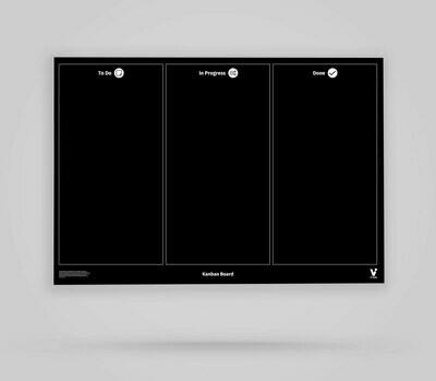Vi-Board: Kanban Board 3 Spalten - Blackboard Poster - DIN A0