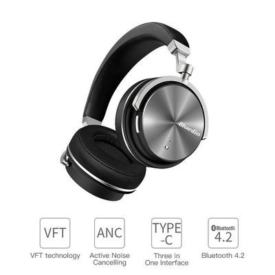 Bluetooth Wireless Headphones Bluedio T4S Noise Cancelling Headset With Built In Mic