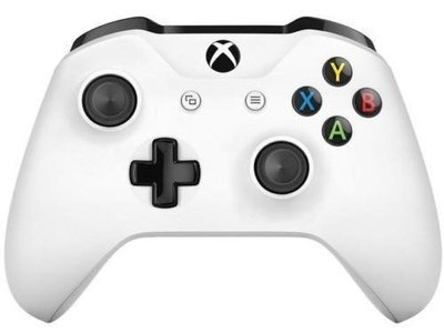 Wireless Microsoft Xbox One S Bluetooth Controller White 3.5mm Headset Jack