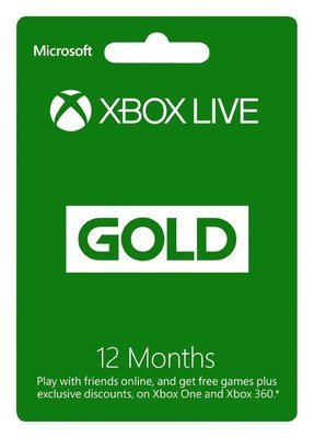 New Microsoft Xbox Live 1 Year (12 Month) Gold Membership Subscription Card.