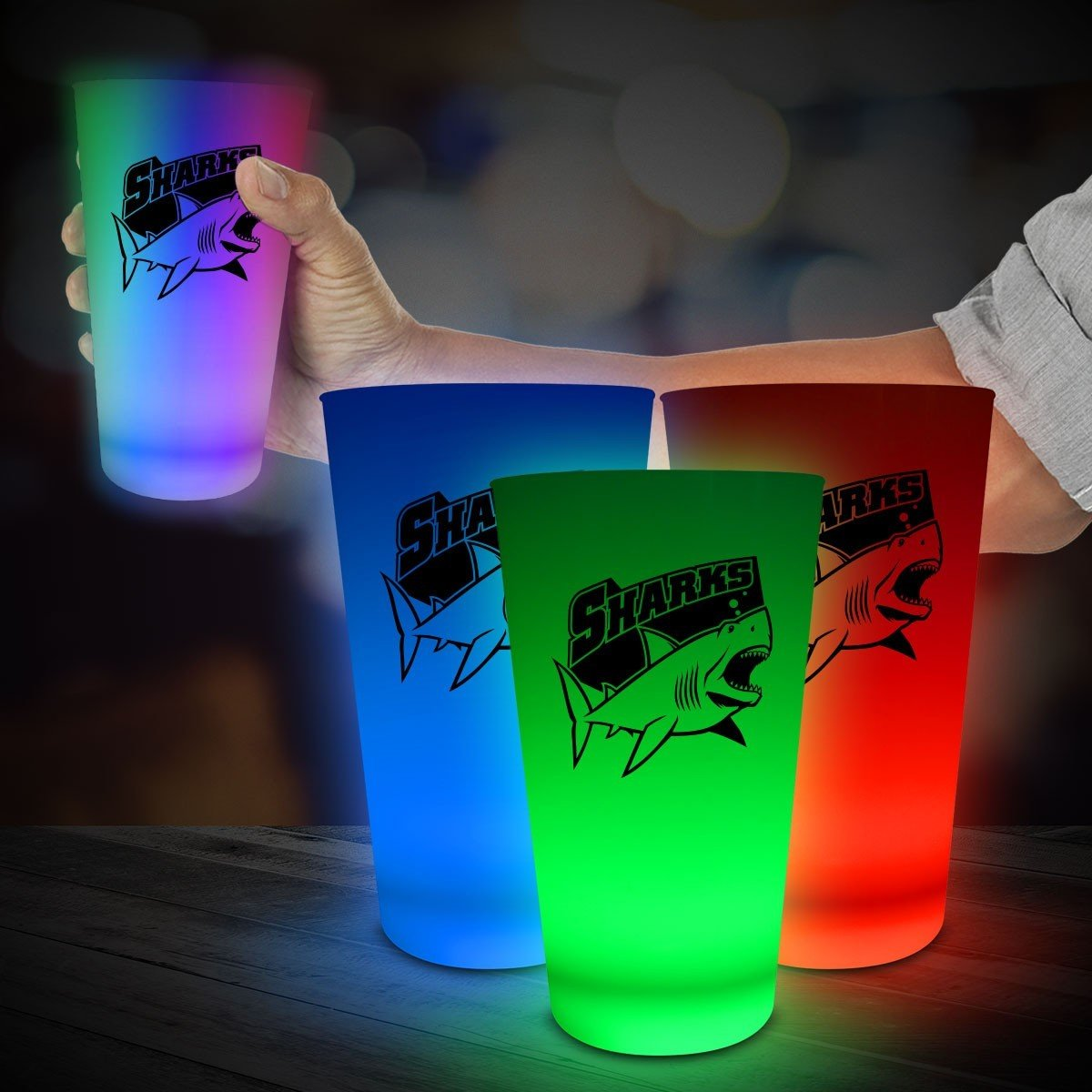 Neon LED Pint Glass. As low as $3.23 each
