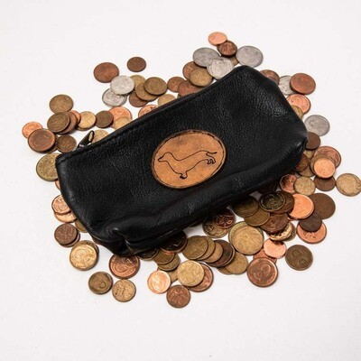 ​Small Leather Bag with Brown Dachshund Insignia