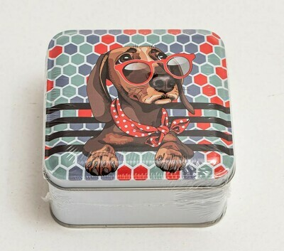 ​Dachshund Novelty Tin - Dog in Sunglasses