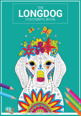 Long Dog Colouring Book