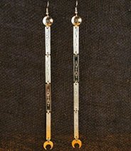 Earrings: Single Dangle, Long  6
