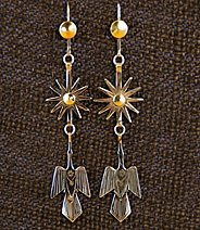 Earrings:  Starbursts & Waterbirds,  3