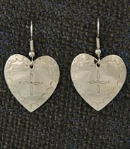 Earrings:  Hearts, Medium  1 1/4