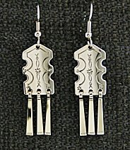 Earrings: Traditional #2 with fringes,  1 1/2