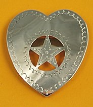 Tie Slide:  Heart with Star Cut-Out 2 1/2