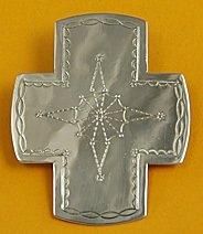 Tie Slide:  Southwest Cross, Style 1, 3