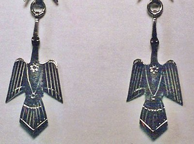 Earrings:  Waterbird, 1-Piece, Small  1 1/4