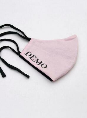 DEMO Mundschutz // rosa // schwarze Schrift
