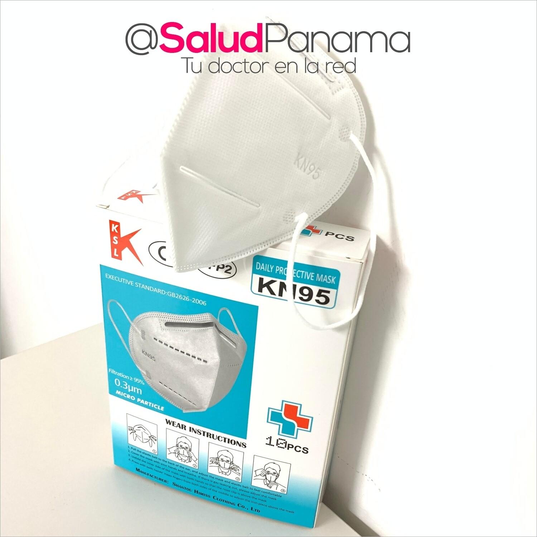 Mascarilla Diaria de Protección KN95 - Caja de 10 unidades