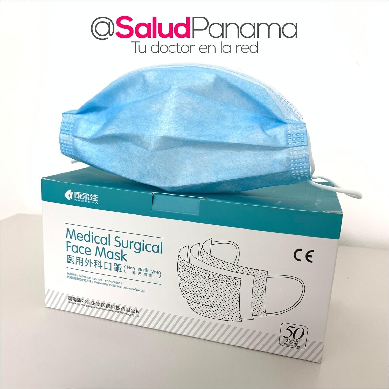 Mascarilla Quirúrgica de 3 Capas - Caja de 50 unidades