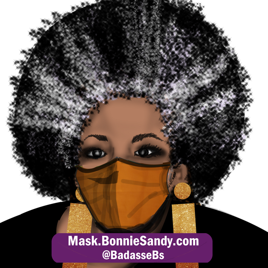 Orange Face Cover Mask