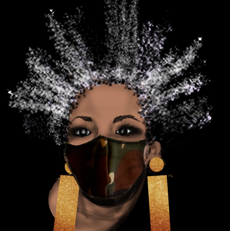 Camo Face Cover Mask