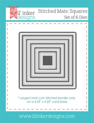 Stitched Mats:  Squares