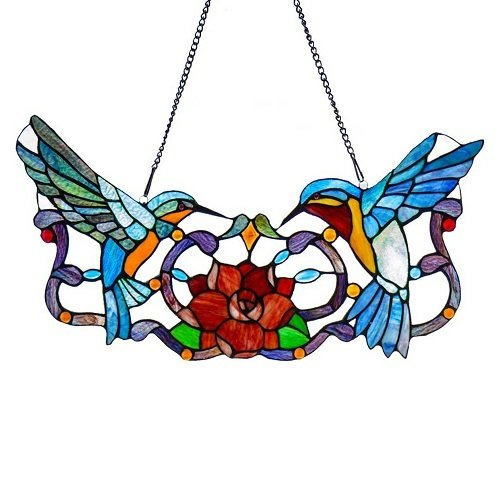 Panel - Stained Glass Hummingbirds