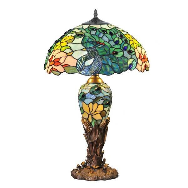 Lamp - Fantastic Peacock Double Lit