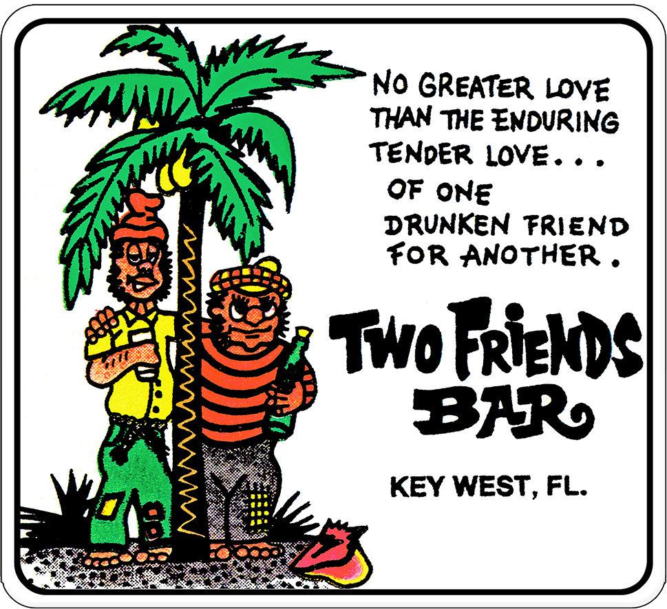 """2 FRIENDS BAR  * 8"""" x  8"""" 10003"""