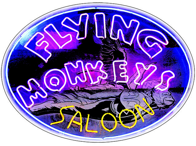 FLYING MONKEYS SALOON * 7'' x 11'' 10030