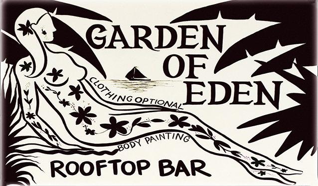 GARDEN OF EDEN TATOO * 6'' x 11'' 10035