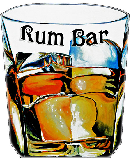 RUM BAR GLASS * 8'' x 11'' 10072