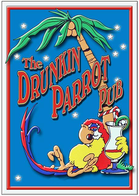 THE DRUNKEN PARROT TALL * 6'' x 11'' 10091