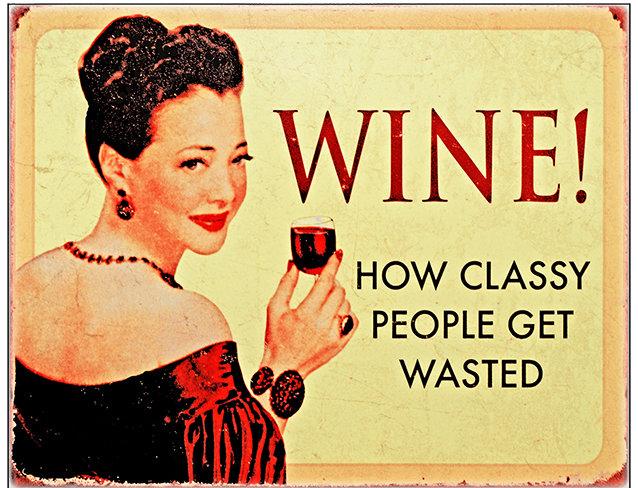 WINE CLASSY PEOPLE * 8'' x 11'' 10100
