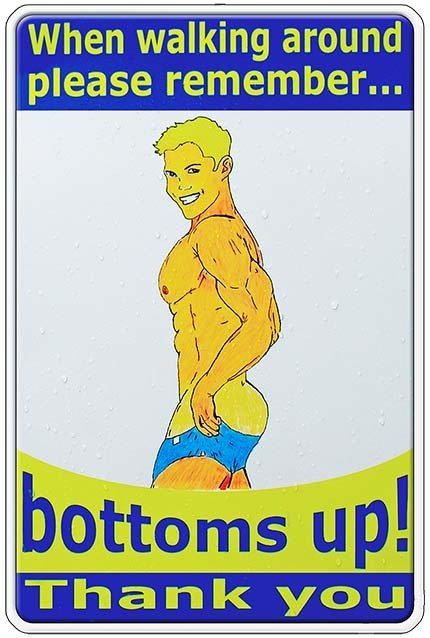 BOTTOMS UP * 7'' x 11''