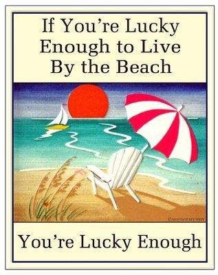 LUCKY ENOUGH BEACH * 7'' x 11''