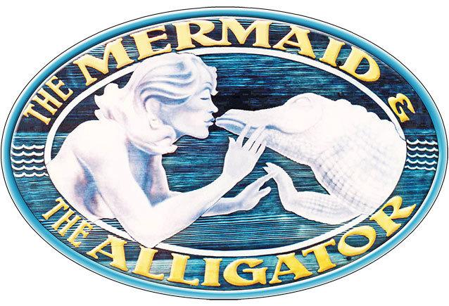 MERMAID AND ALLIGATOR * 7'' x 11'' 10126