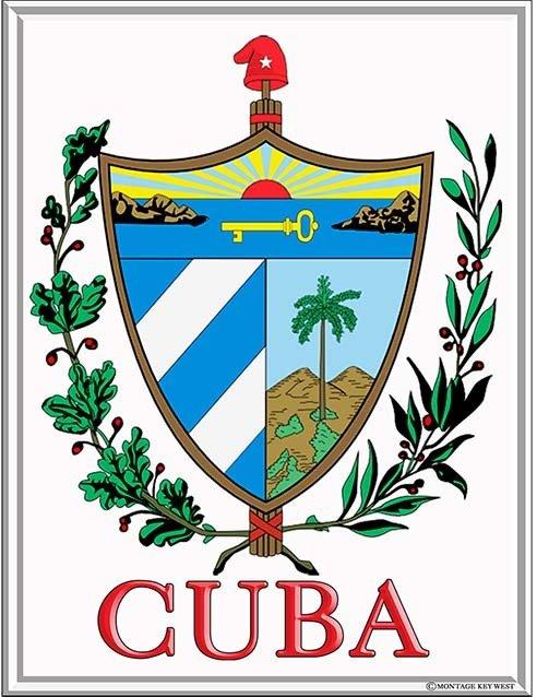 CUBA COAT OF ARMS * 7'' x 11''
