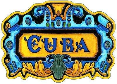 CUBA ART TILE * 7'' x 11''
