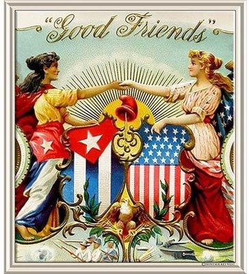 GOOD FRIENDS USA CUBA * 8'' x 9''