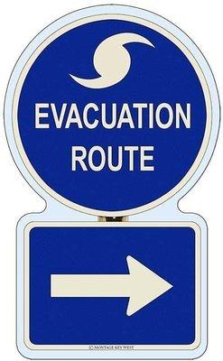 EVACUATION RIGHT * 7'' x 11''