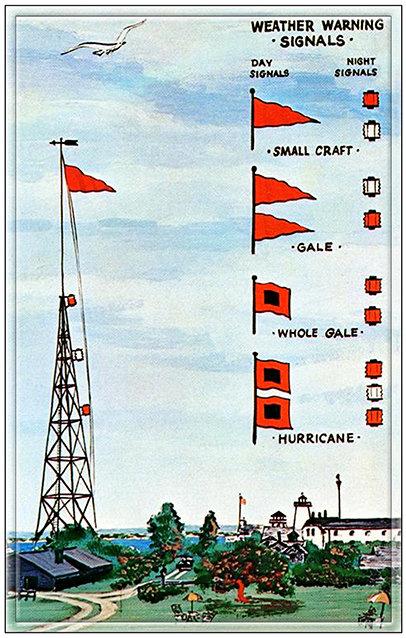 HURRICANE WARNING FLAGS * 6'' x 11'' 10259
