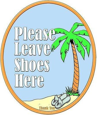 PLEASE LEAVE SHOES HERE  * 8'' x 11''