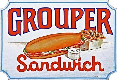 GROUPER SANDWICH * 7'' x 11''