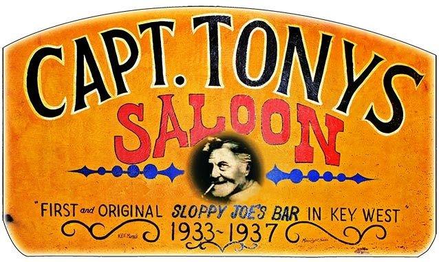 CAPT. TONY'S ORIGINAL SIGN * 6'' x 11'' 10375