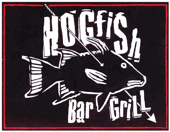 HOGFISH BLACK & WHITE * 8'' x 11''