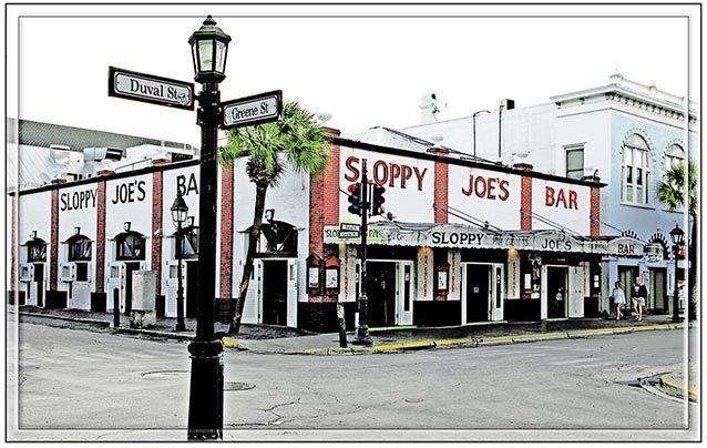 SLOPPY JOE'S CORNER VIEW * 7'' x 11'' 10424