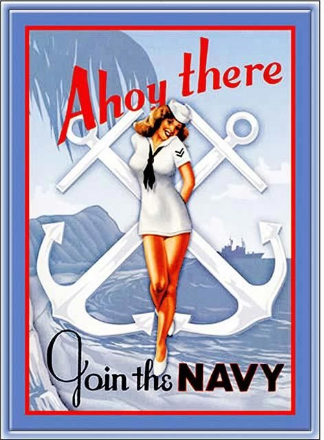 AHOY THERE JOIN THE NAVY * 7'' x 11'' 10434