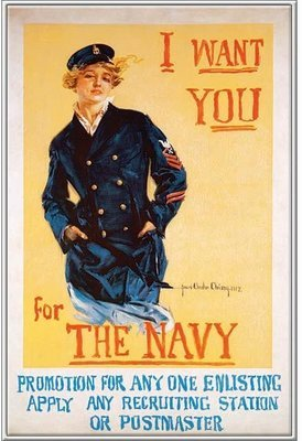 I WANT YOU FOR THE NAVY * 7'' x 11''