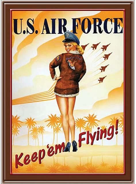 KEEP'EM FLYING AIR FORCE * 7'' x 11'' 10439