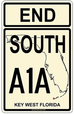 END SOUTH A1A KEY WEST * 7'' x 11''