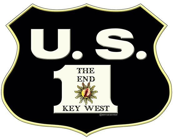 US 1 SHIELD THE END KEY WEST * 8'' x 10'' 10478